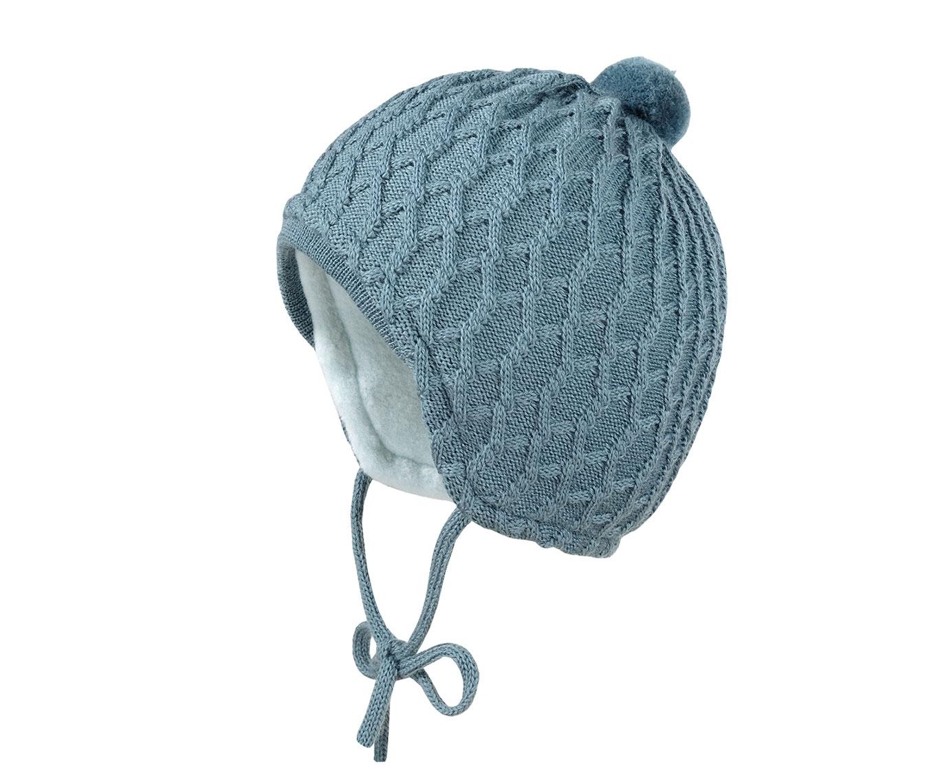 Babymuts 'Petrol knit' kleur