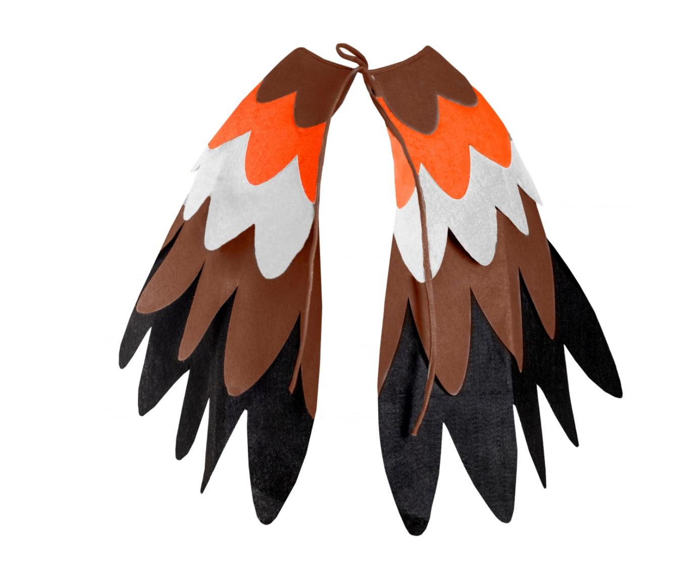 Vleugels 'Vilt Oranje/bruin'