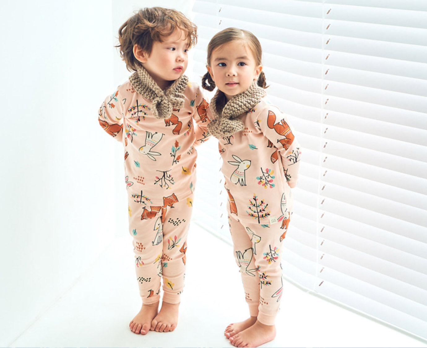 Pyjama 'Fox and Rabbit' kleur