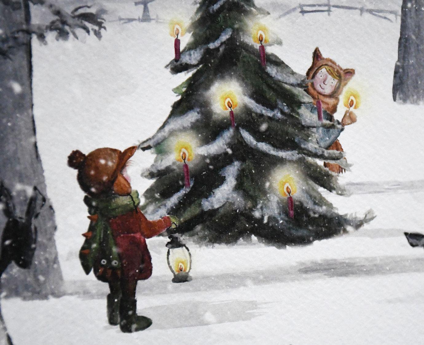 Poster 'Kerstlicht'
