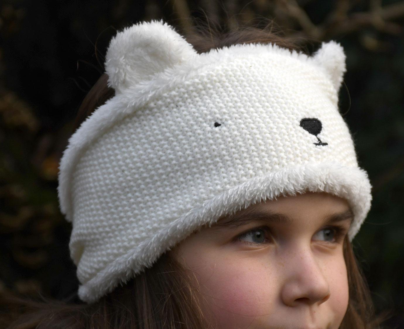 Hoofdband 'Polar bear'