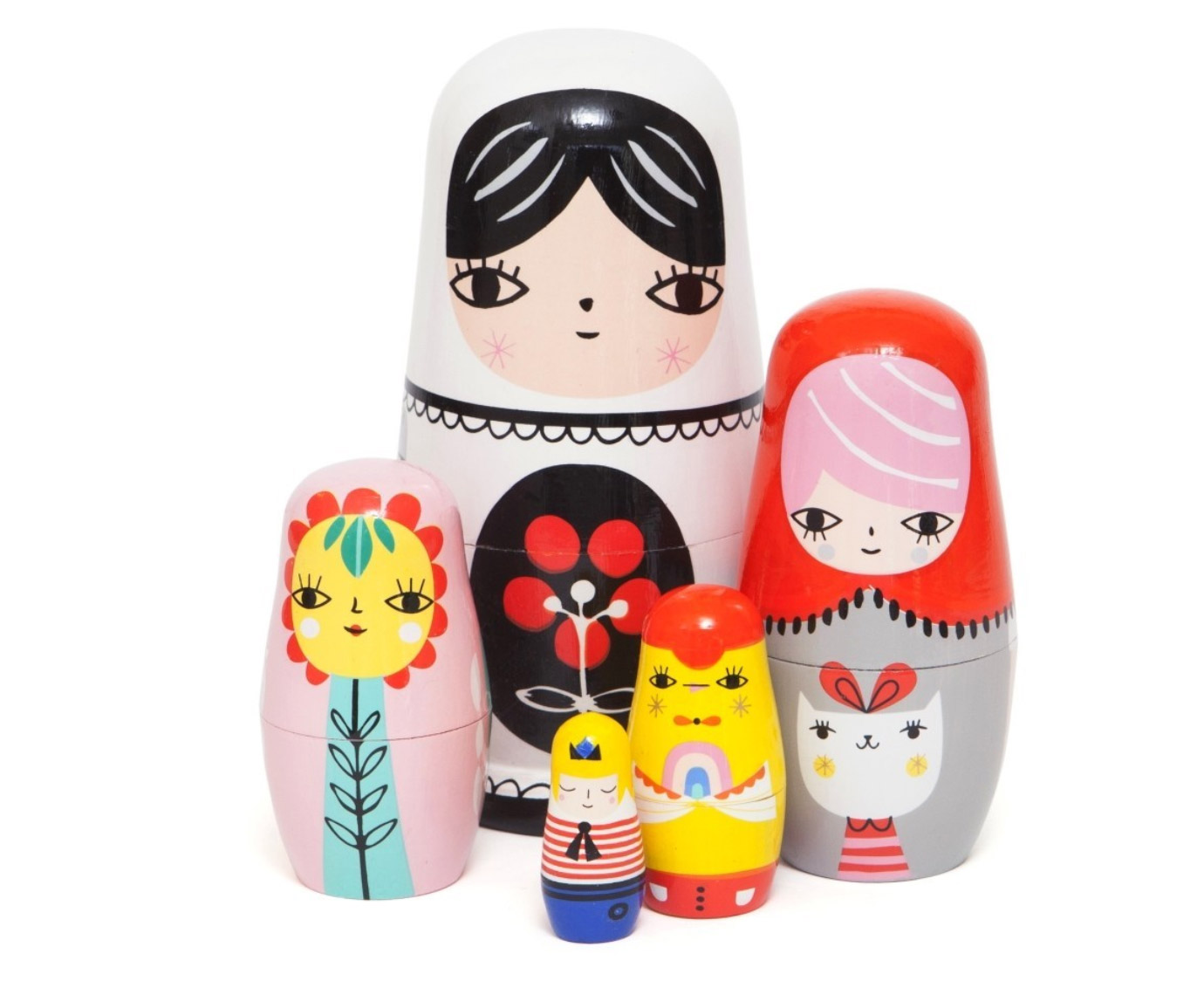 Nesting dolls 'Fleur and Friends' kleur
