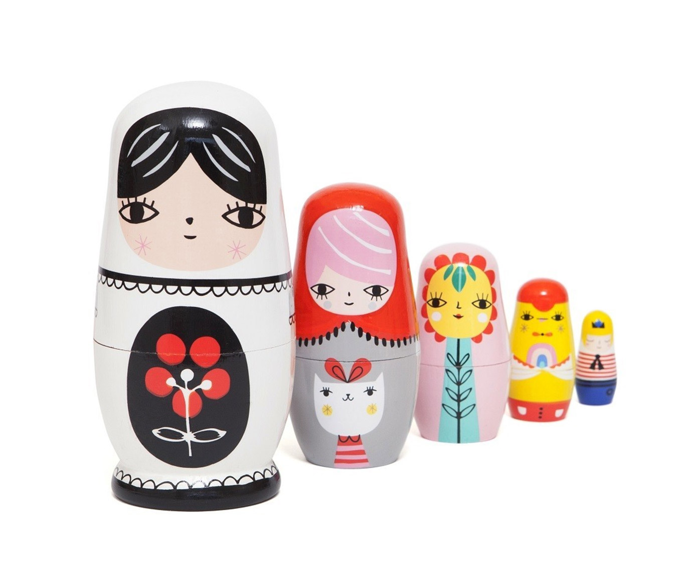 Nesting dolls 'Fleur and Friends'