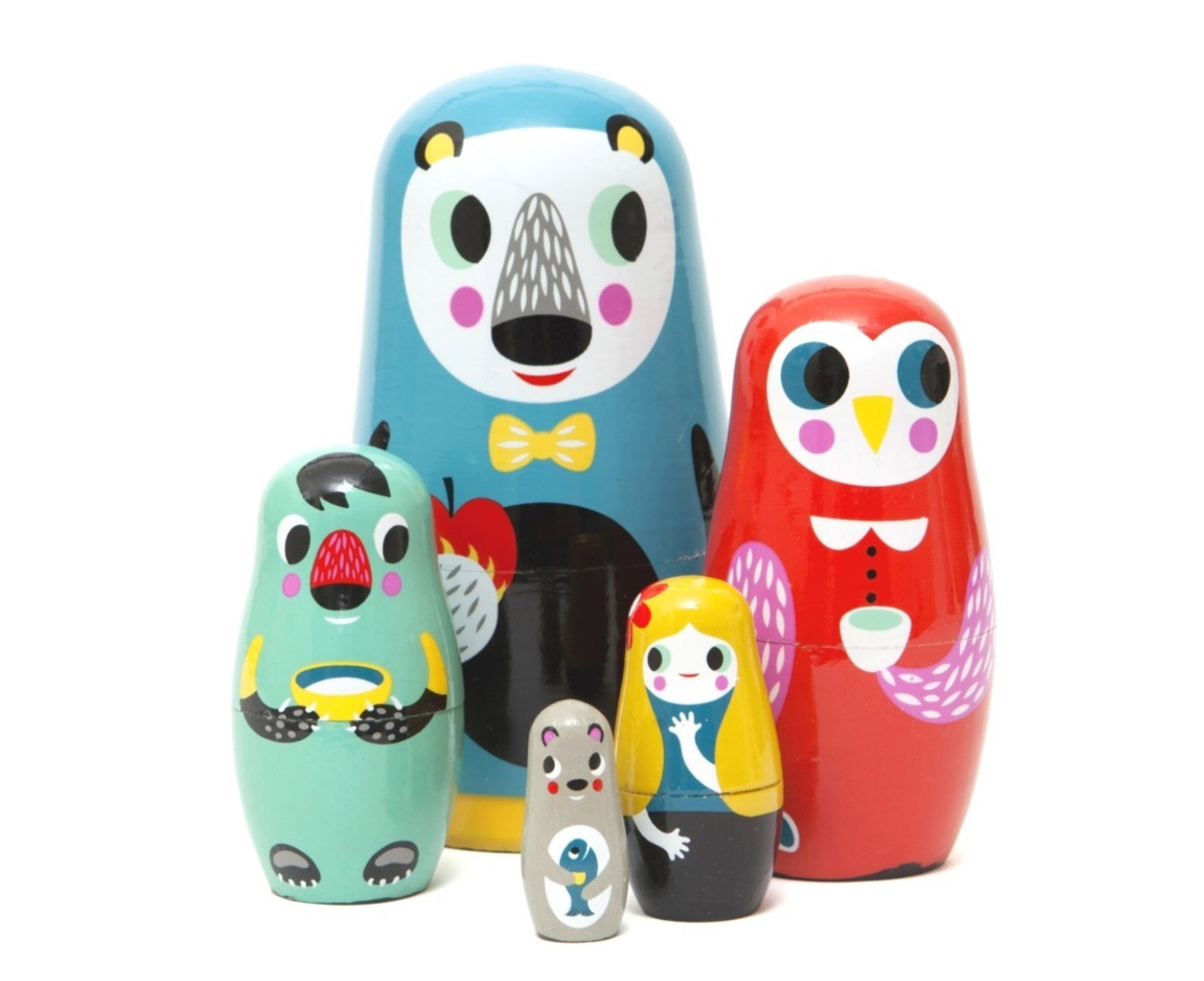 Nesting dolls 'In the woods' 1