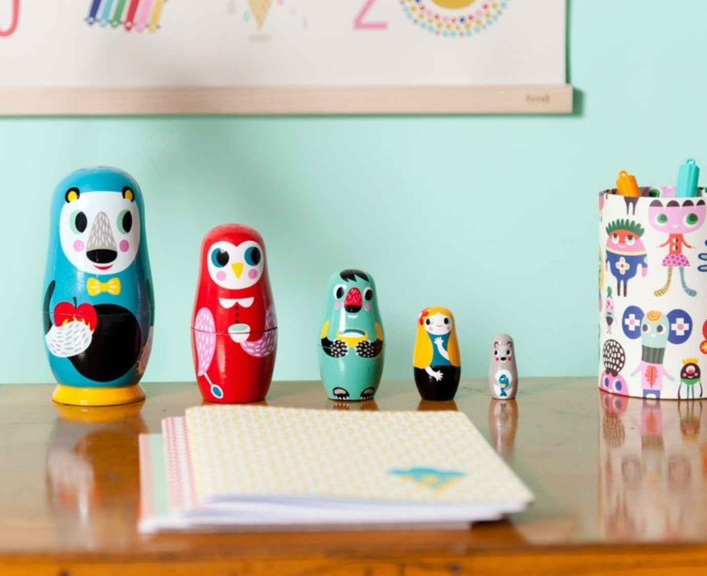 Nesting dolls 'In the woods' 3
