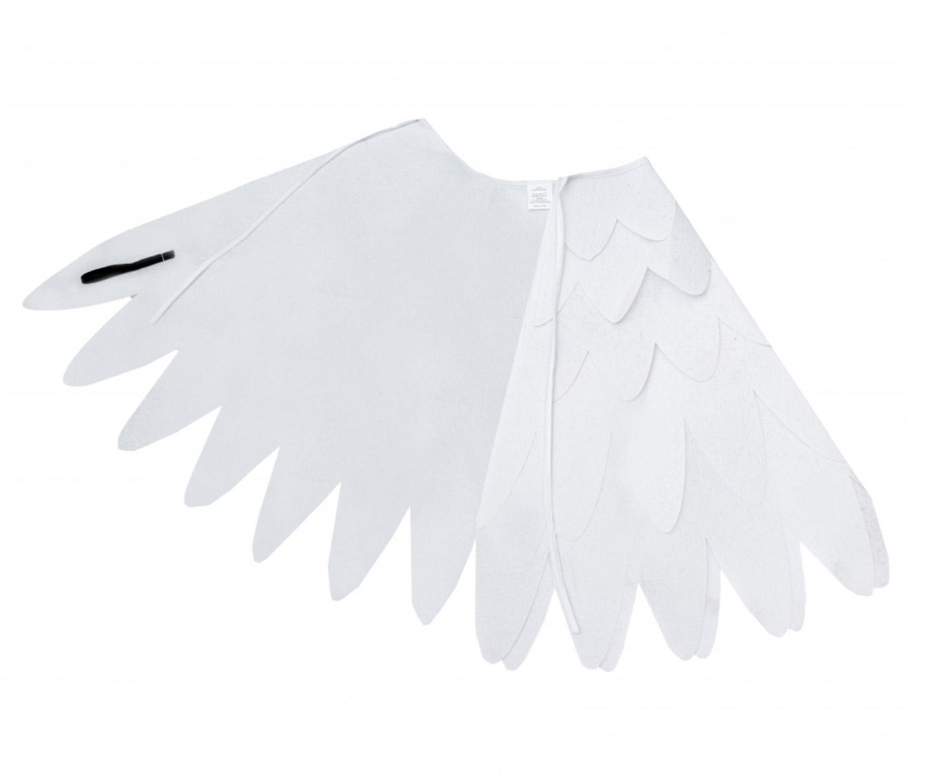 Vleugels 'Vilt Wit' kleur