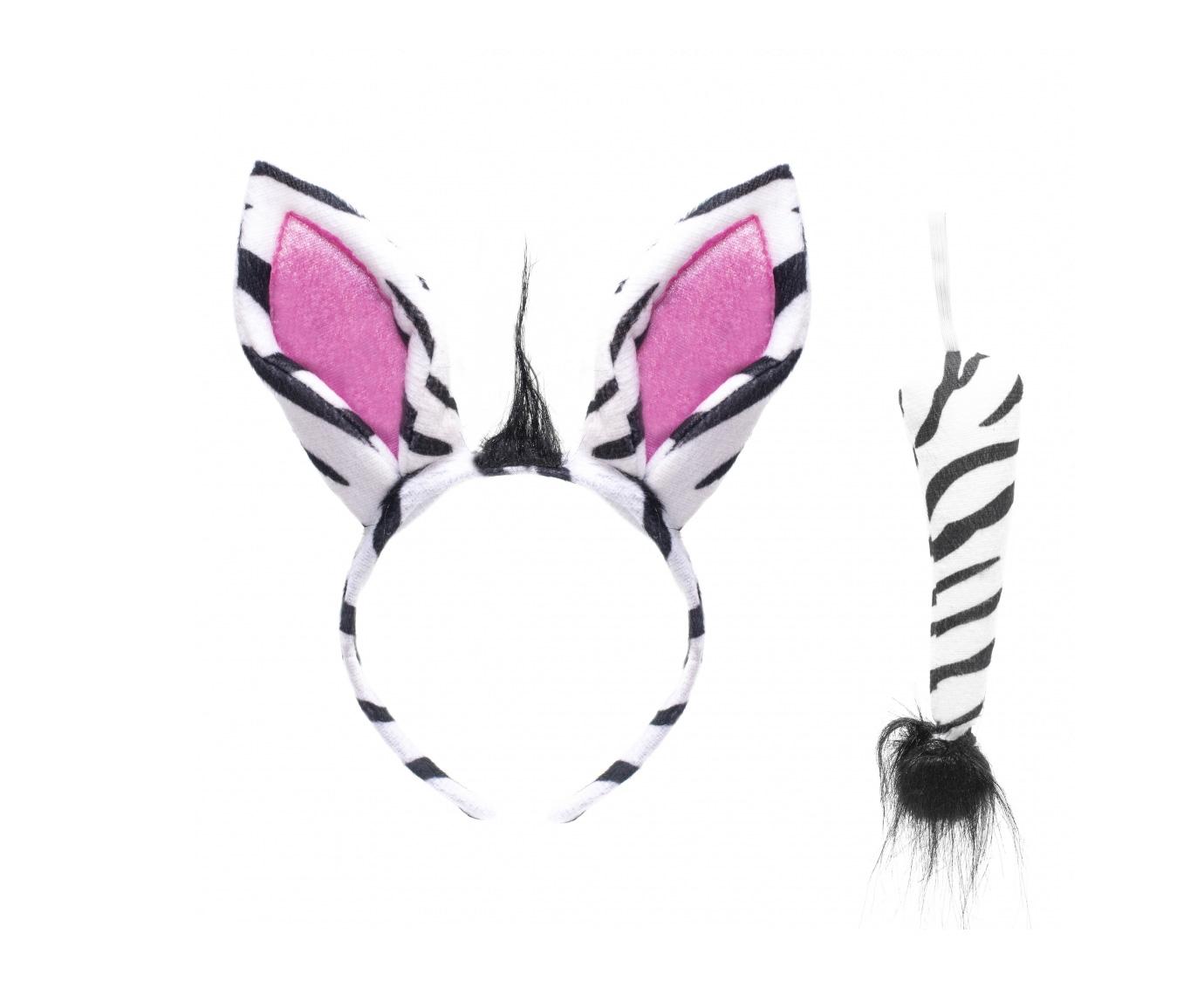 Diadeem en staart 'Zebra' kleur