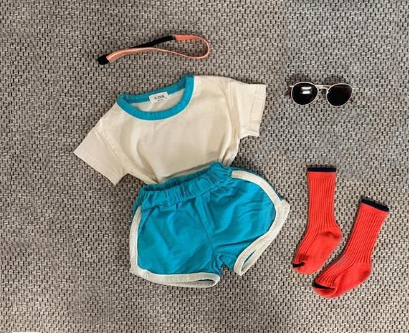 Loungewear 'Ringer Blue' kleur