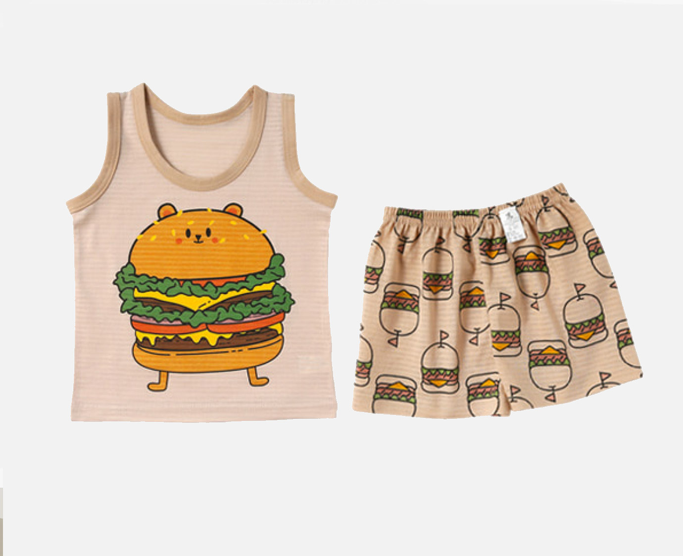 Loungewear  'Burger Bear' kleur