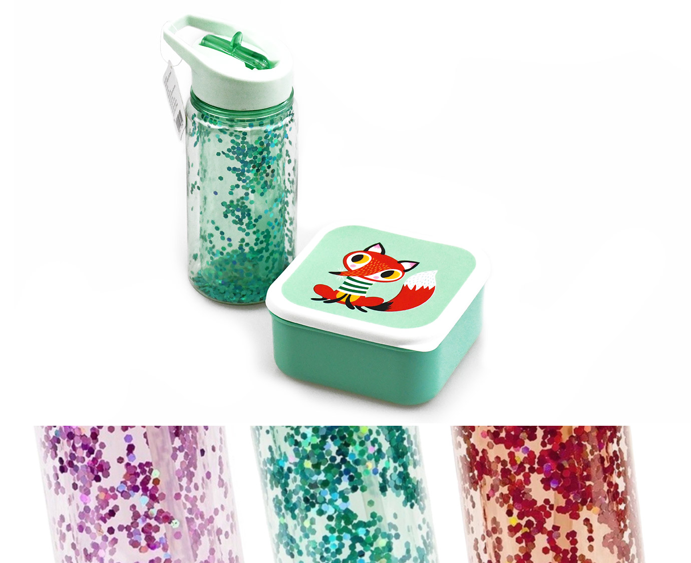 Set 'Glitter animals'