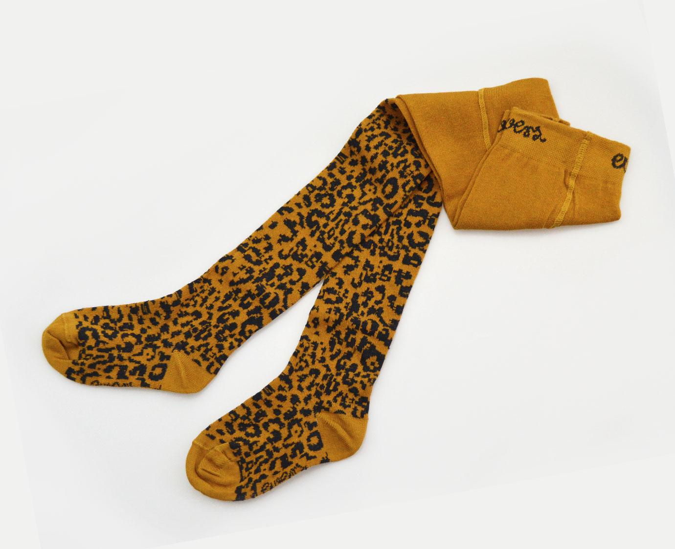 Maillot 'Leopard' mosterd