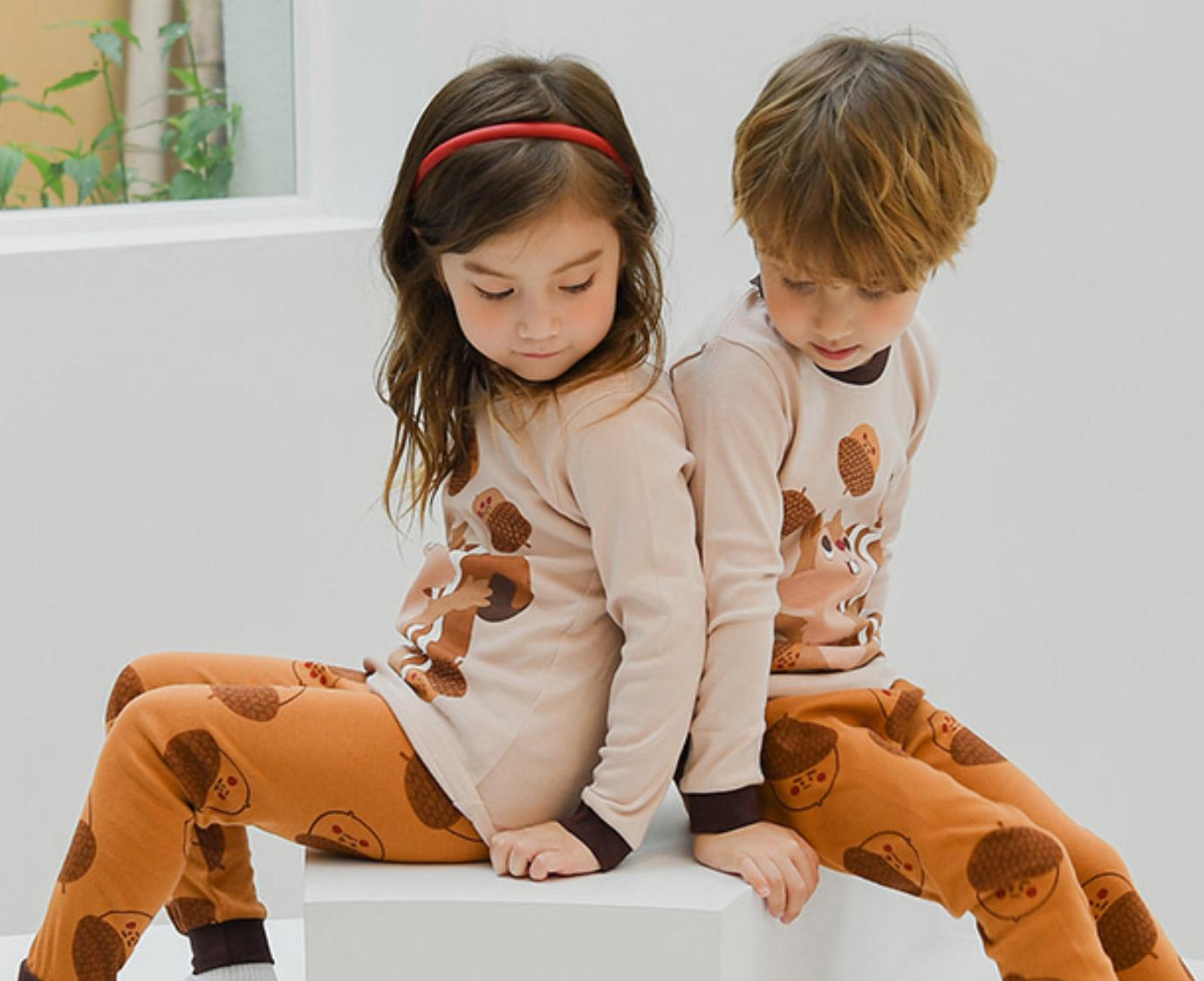 Organic Pyjama 'Squirrel' Maat 98
