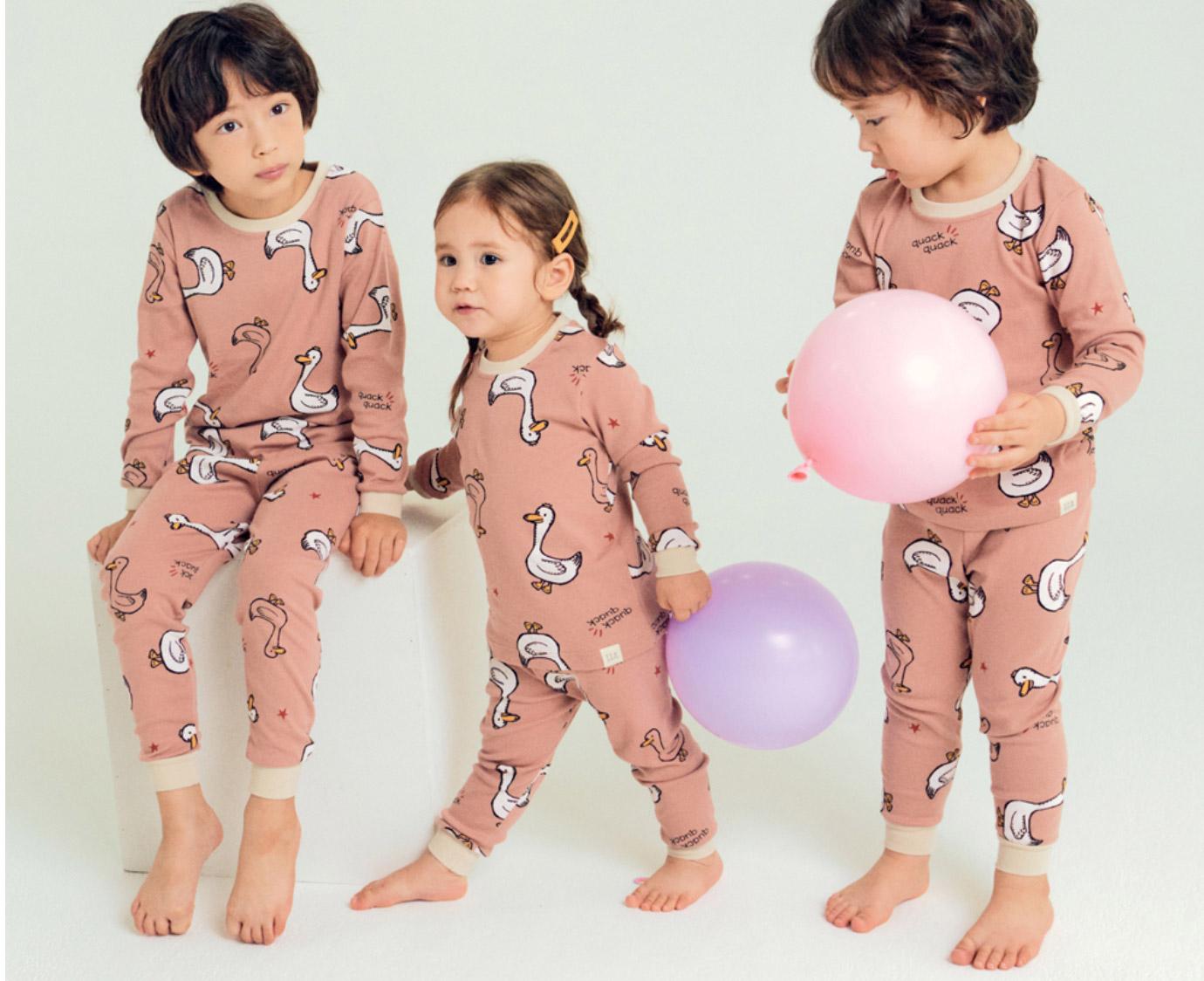 Pyjama 'Duck' Organic kleur