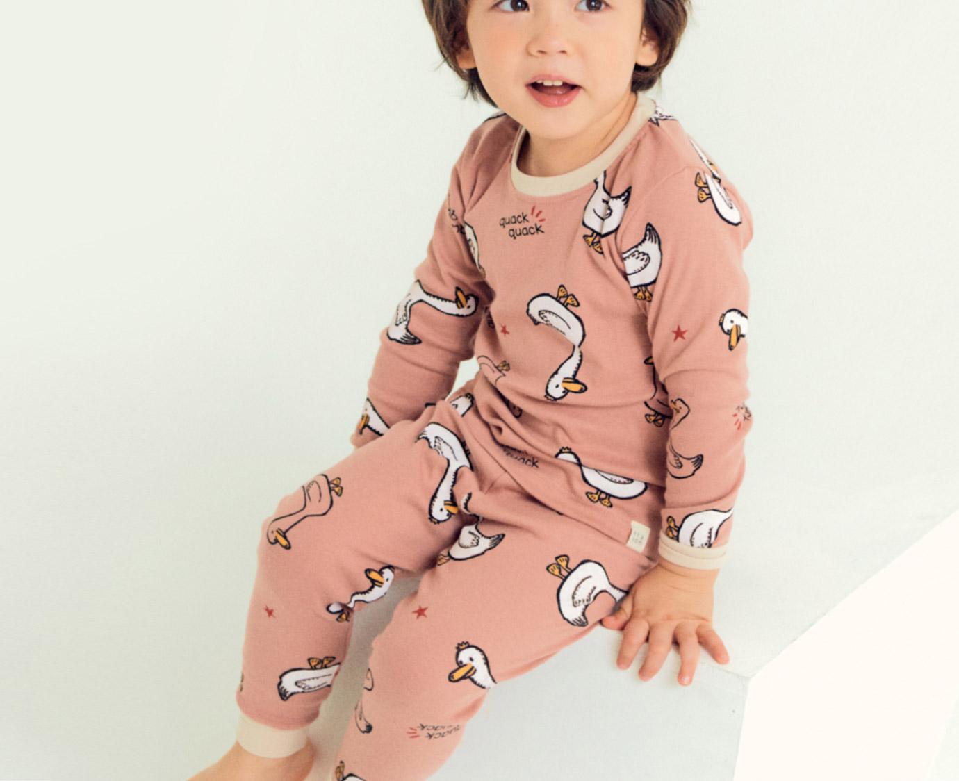 Organic Pyjama 'Duck' Mt 128