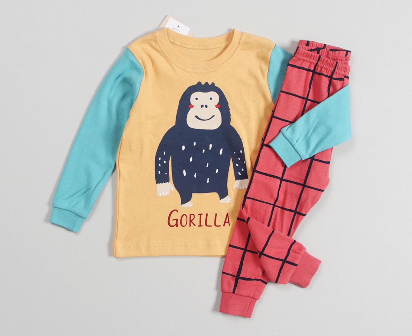 Pyjama 'Gorilla' Organic kleur