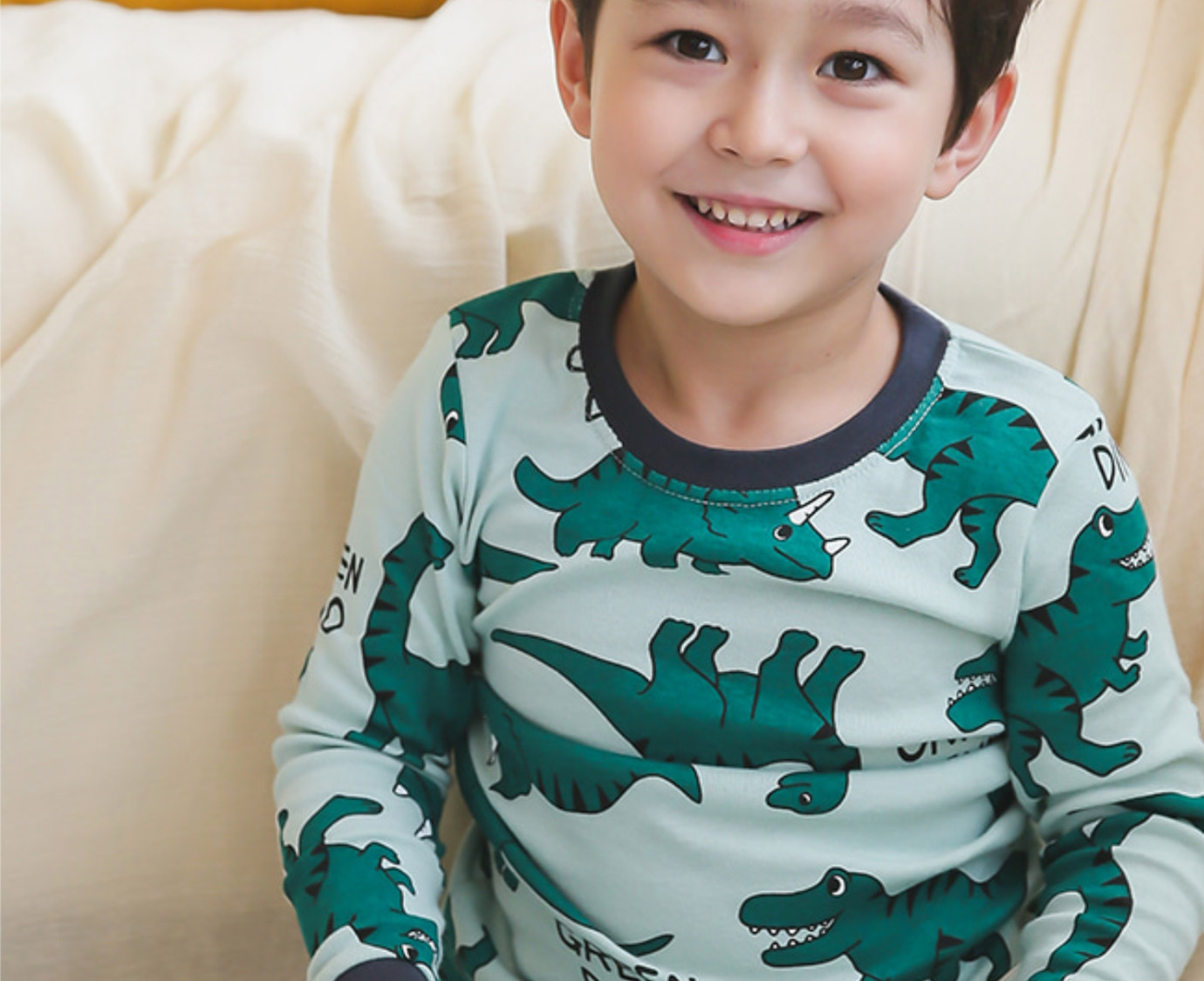 Organic Pyjama 'Dino World' Mt 86-92 3