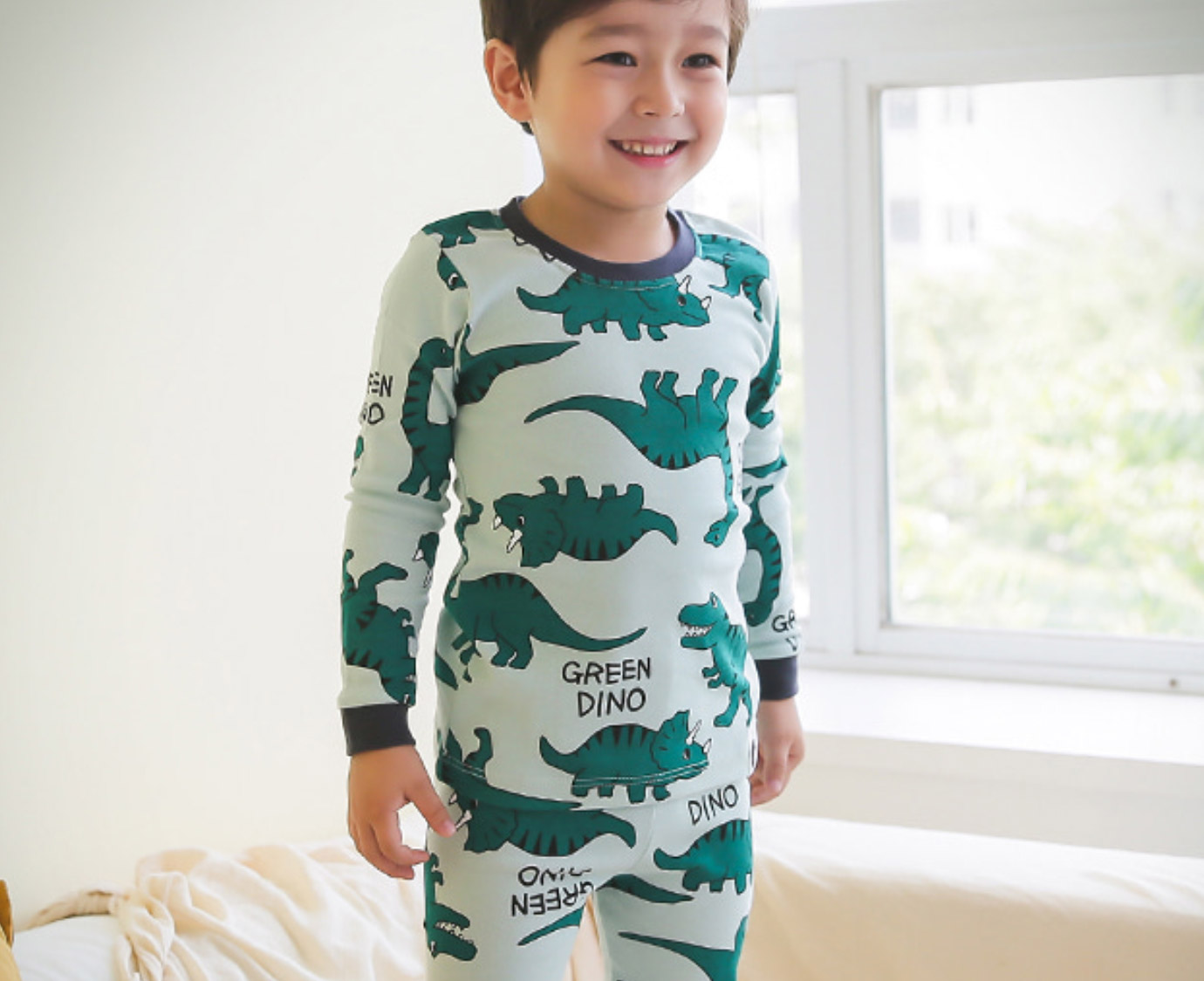 Organic Pyjama 'Dino World' Mt 86-92
