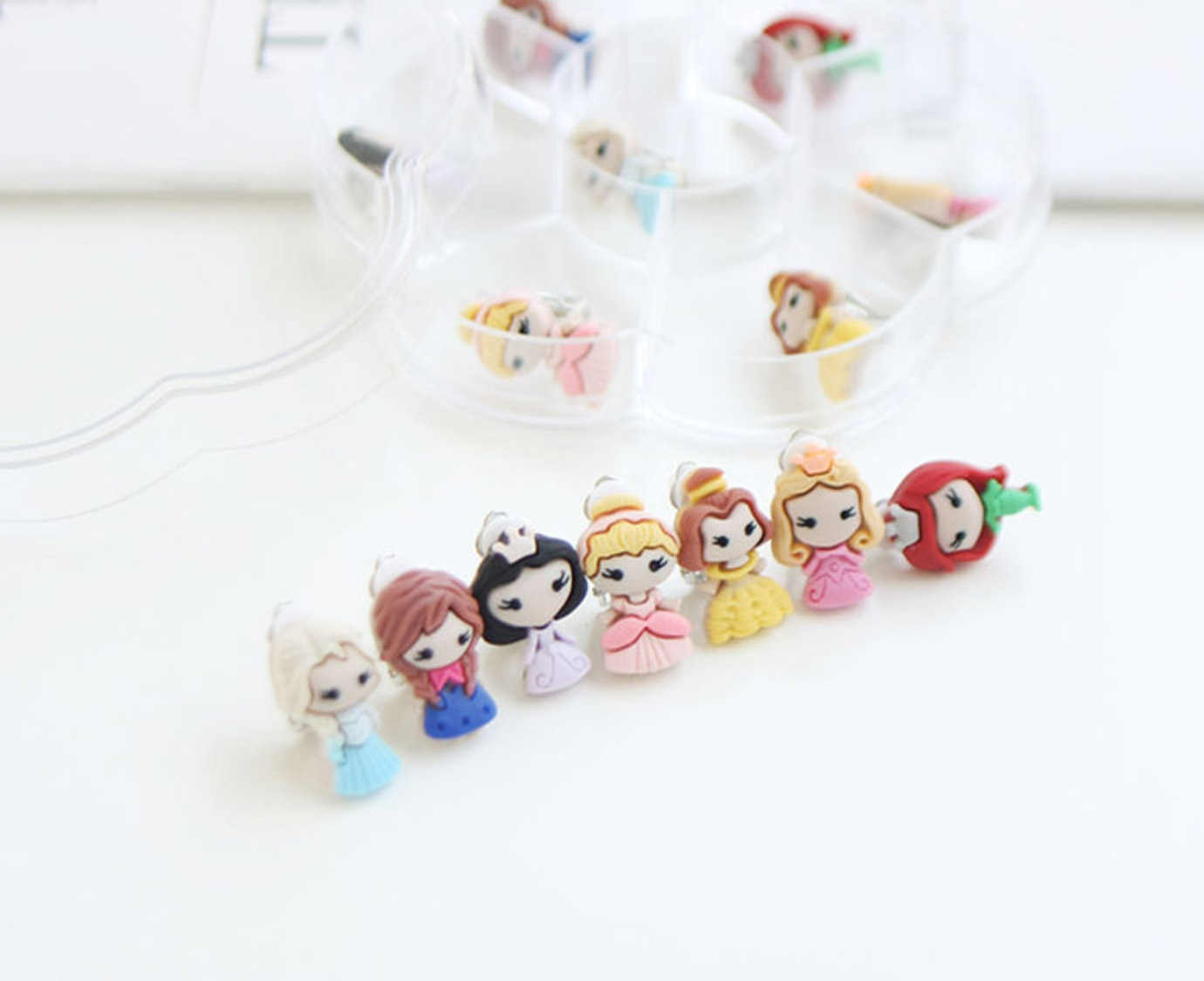 Clip oorbellen 'Princess' kleur