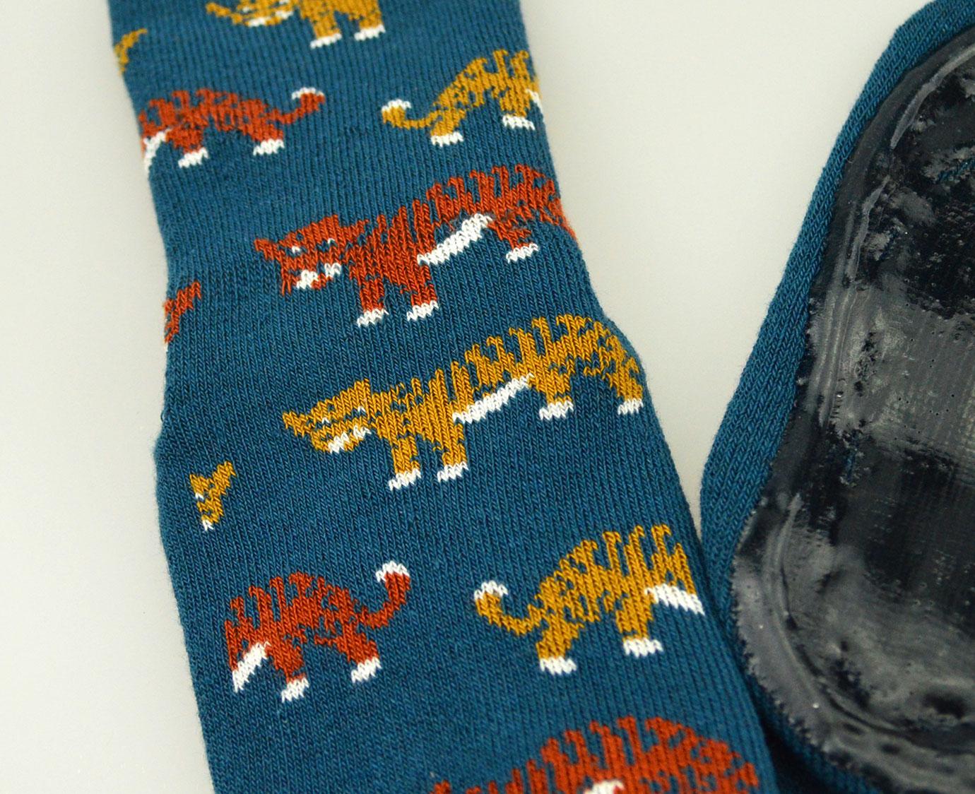 Anti-Slip sokken 'Tijger' Petrol