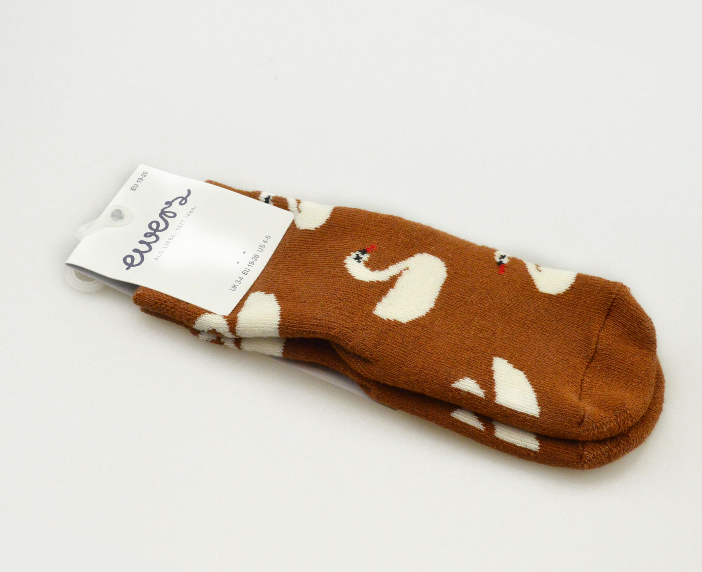 Anti-Slip sokken 'Zwaan' Toffee
