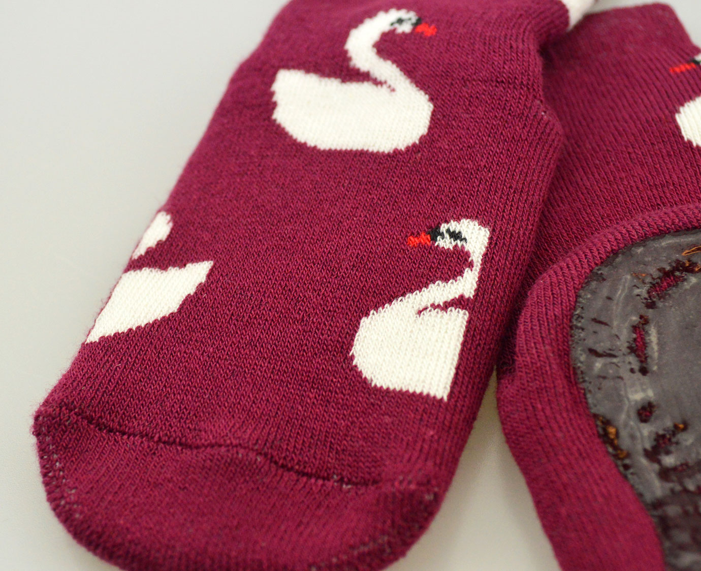 Anti-Slip sokken 'Zwaan' Maroon