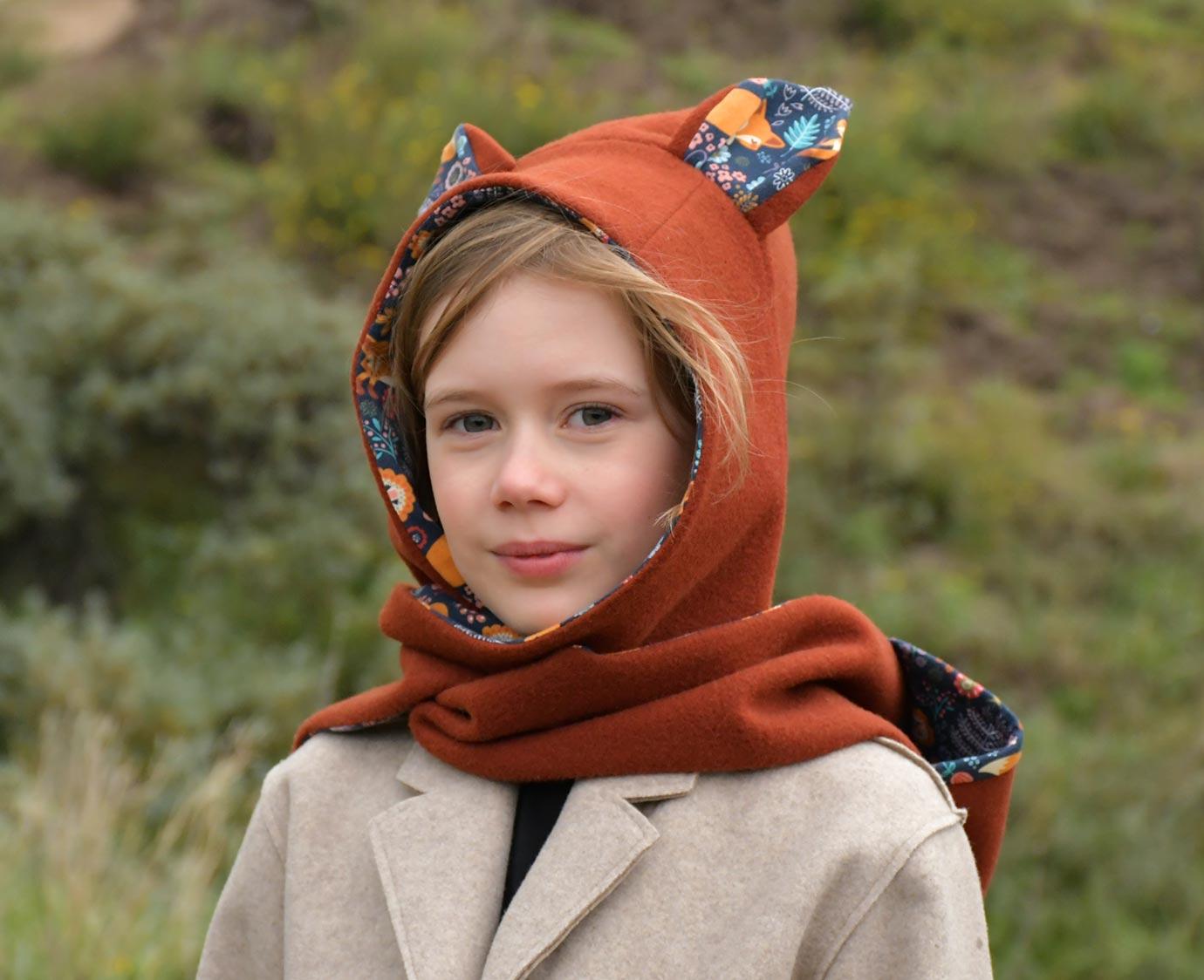 Sjaalmuts 'Fox brown'