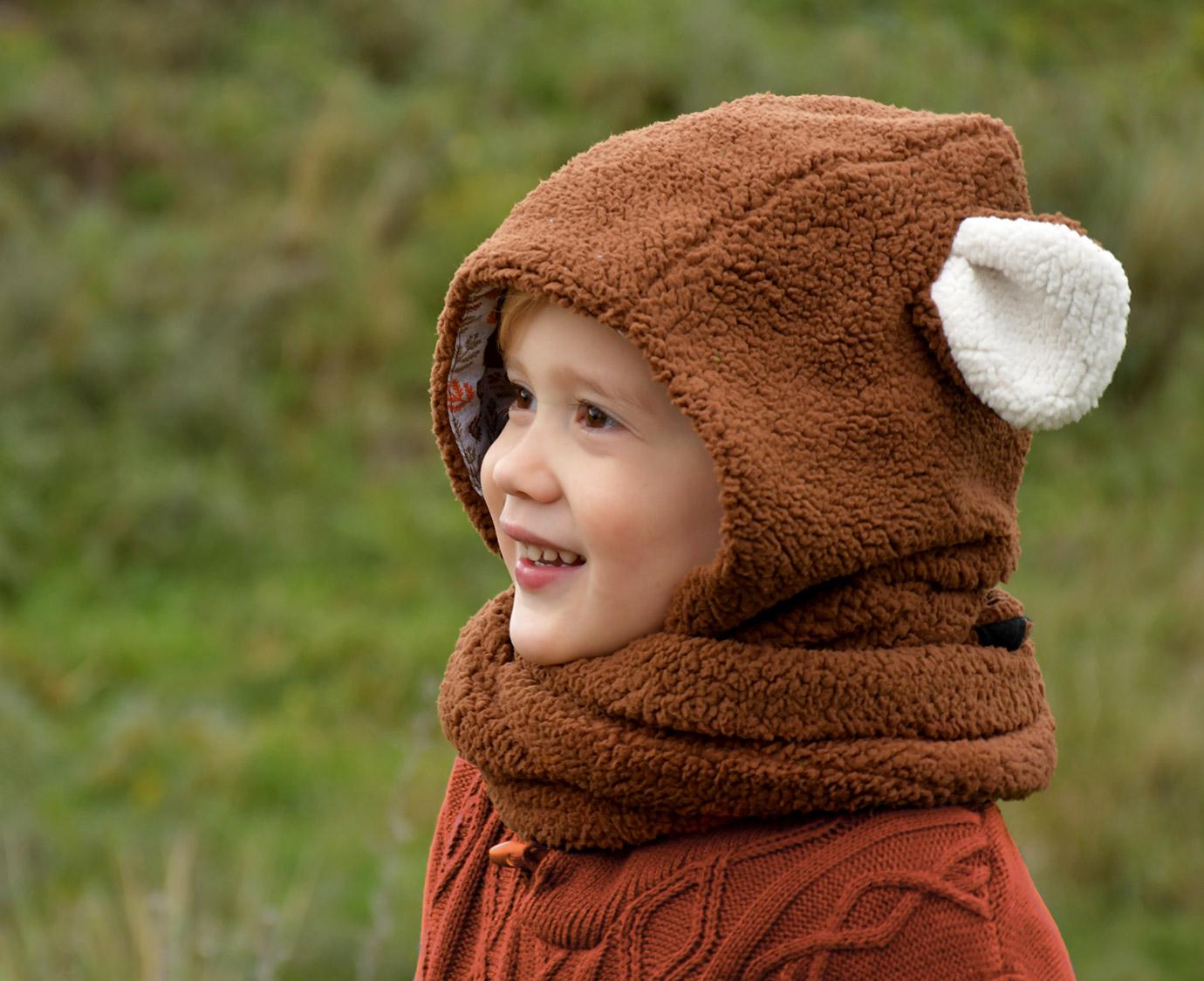 Sjaalmuts 'Bear' kleur