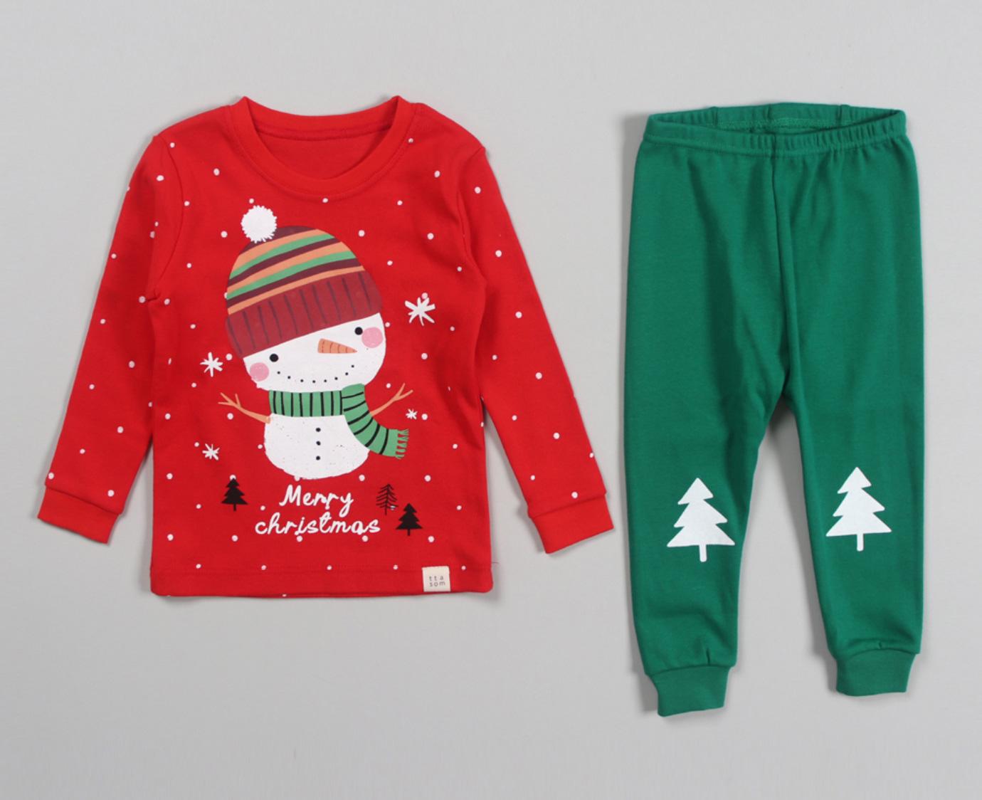 Pyjama 'Snowman' Organic kleur