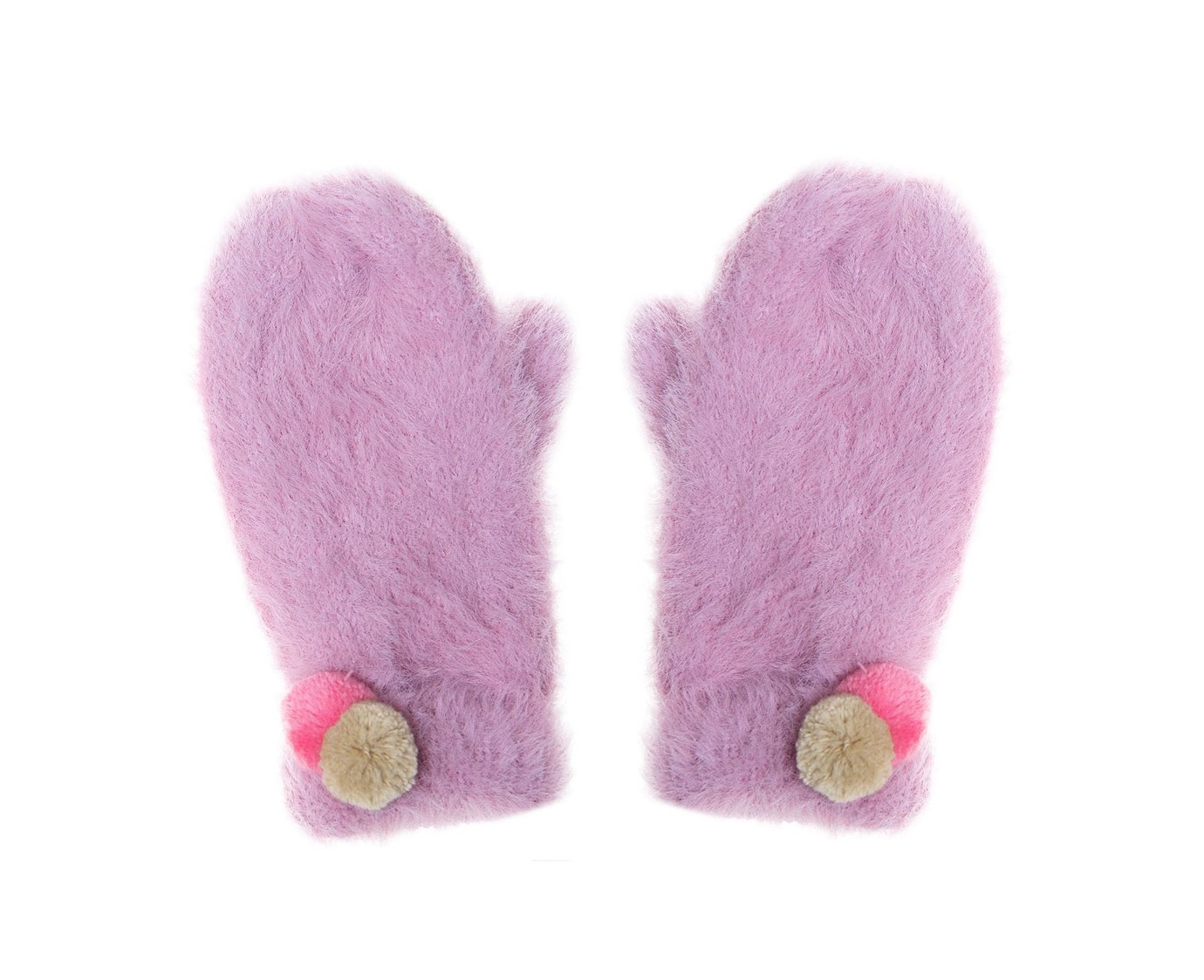 Wanten 'Fluffy pink'