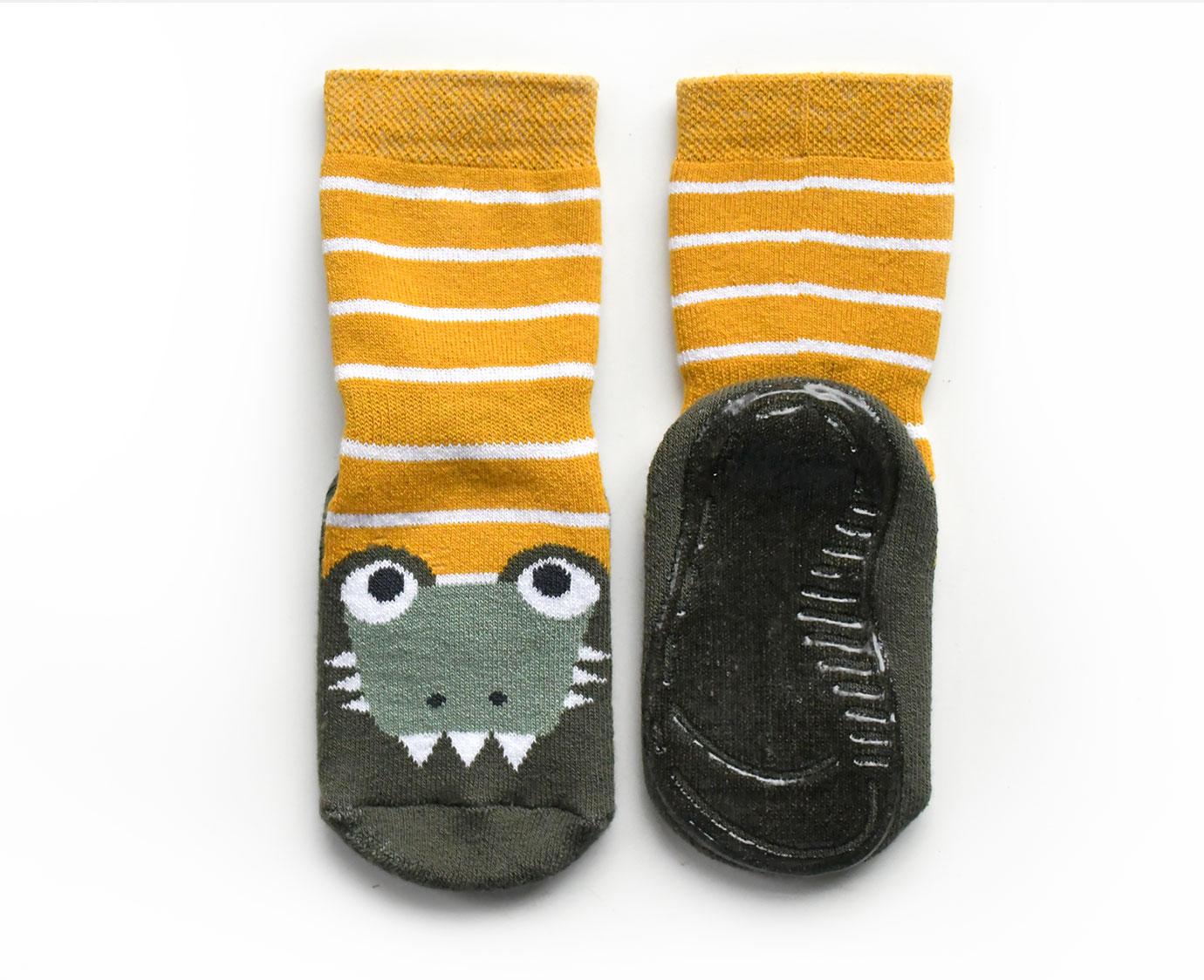 Anti-Slip sokken 'Croco' kleur