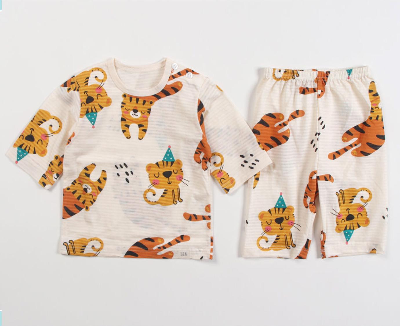 Organic Pyjama 'Tiger Party'