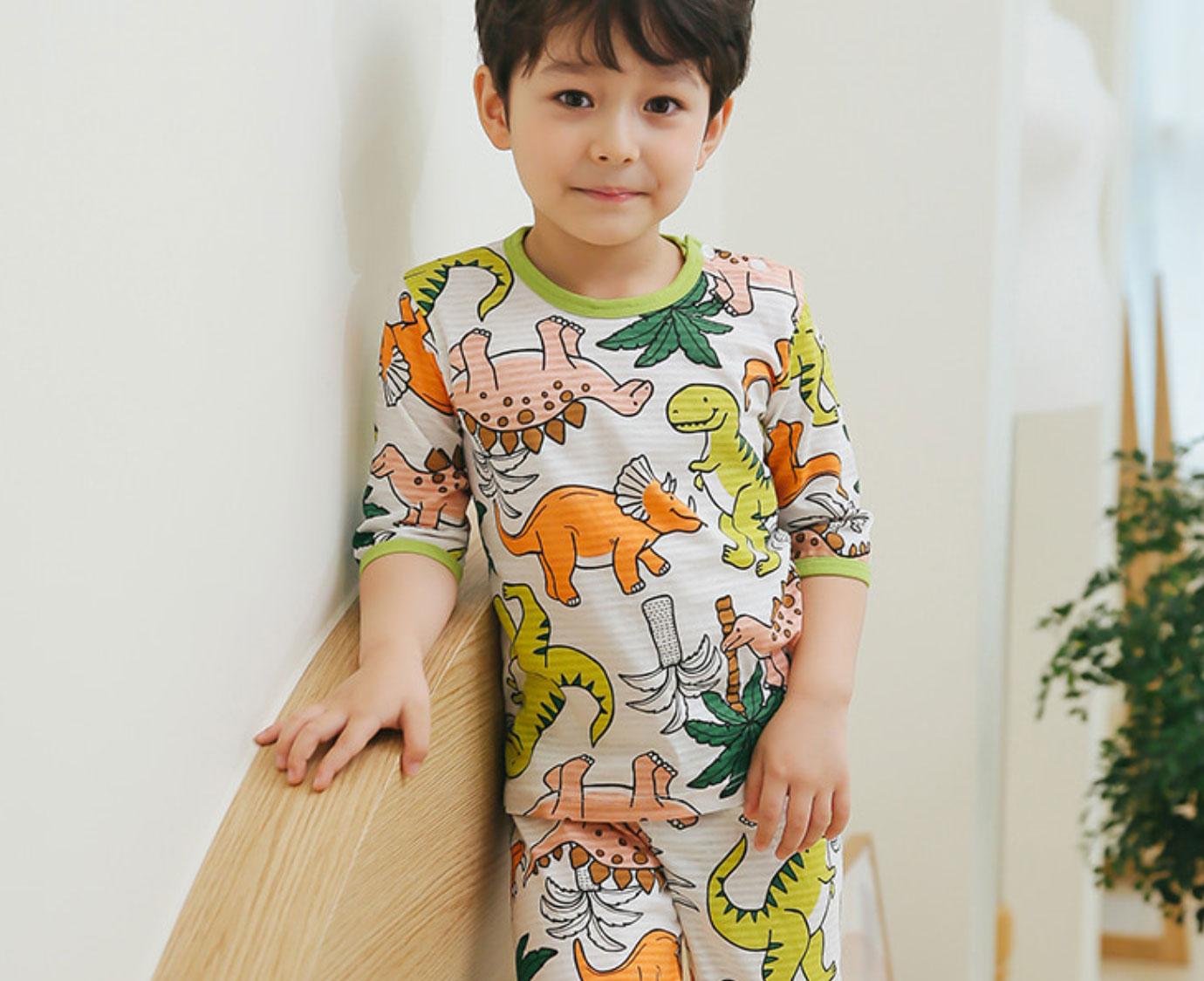 Organic Loungewear 'Palm Tree Dino'