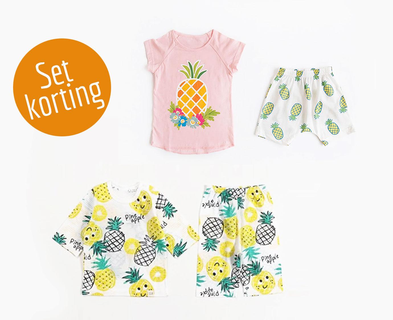 Set 'Pineapple fun' Maten 116-128