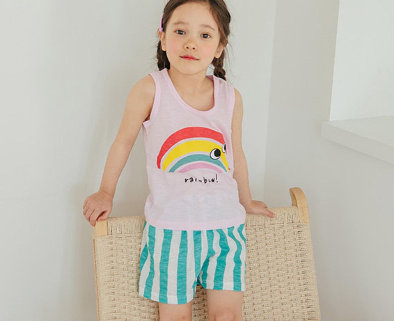 Set 'Pineapple & Rainbow' Mt 116-122