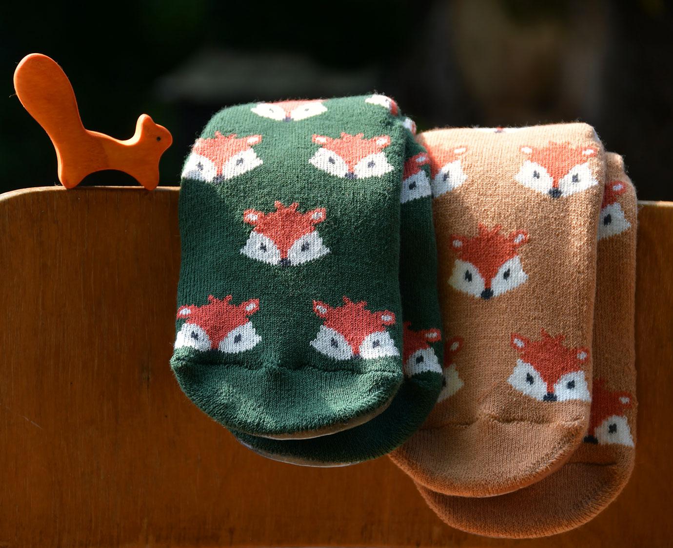 Anti-Slip sokken 'Fox' Green